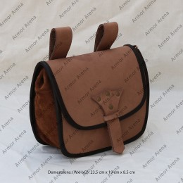 Medieval Leather Belt Bag