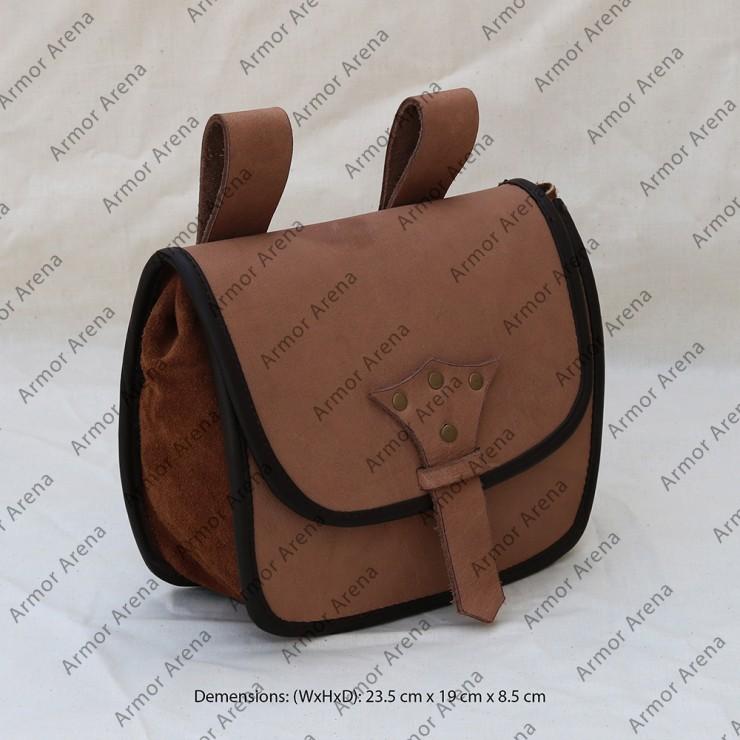 Medieval Leather Belt Bag
