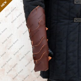 Larp Leather Gauntlets