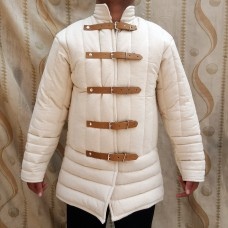 14th Century Medieval Gambeson Leather Strap Closing