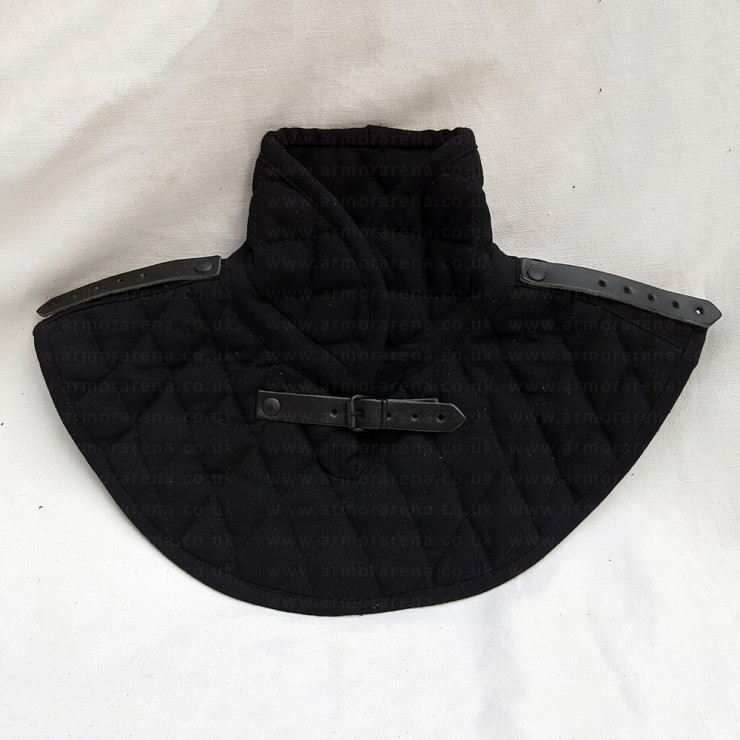 Padded Gambeson Gorget with Pauldron Shoulder Straps