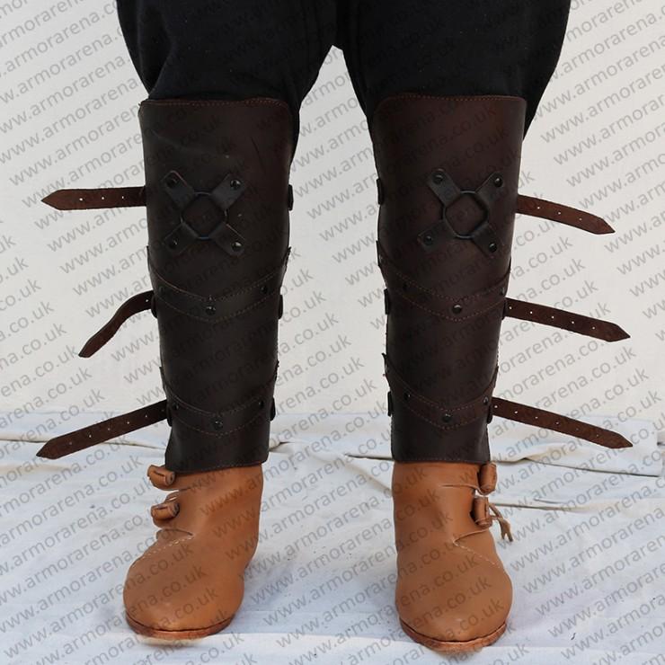 Conan Barbarian Leather Greave
