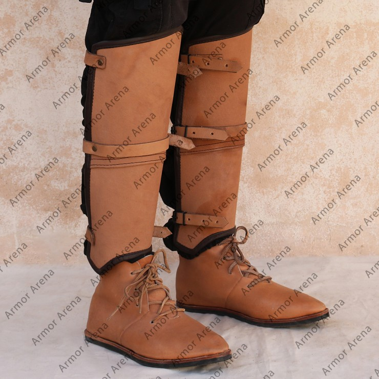 Warrior Leather Greaves
