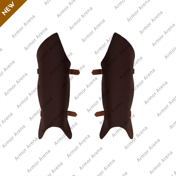 Lothbrok Leather Greaves