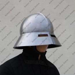 Guardsman helmet / Medieval Kettle Hat with Oculars (Eye Slits)