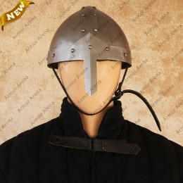 Nasal Helmet with Riveted Bands